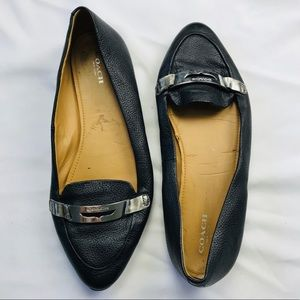 Coach Black Ruthie Patent Leather Loafers Flats